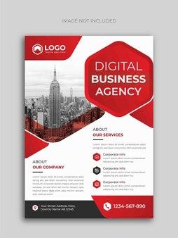 Szablon projektu ulotki agencji cyfrowej firmy