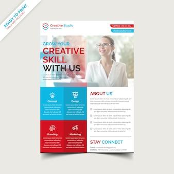 Szablon projektu ulotki agencji kreatywnej