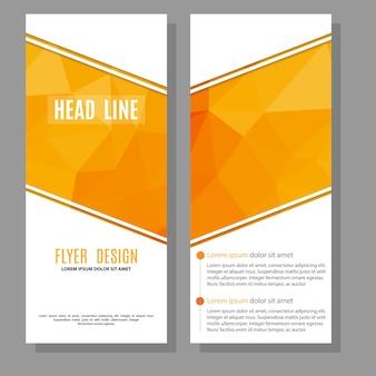 Szablon projektu ulotki broszury wektor szablon układu