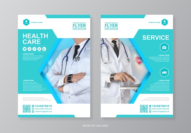 Szablon projektu ulotki korporacyjnej opieki zdrowotnej i medycznej