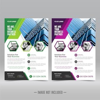 Szablon projektu ulotki korporacyjnej plakat