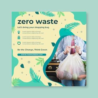 Szablon projektu ulotki o zerowej ilości odpadów