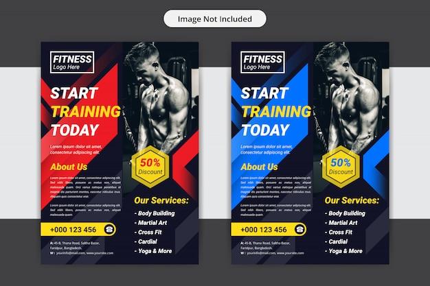 Szablon projektu ulotki siłowni lub fitness