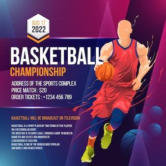 Szablon projektu ulotki turnieju koszykówki