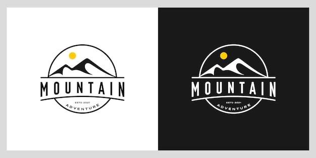 Szablon projektu wektor logo góry