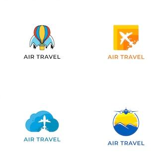 Szablon projektu wektor logo podróży lotniczych