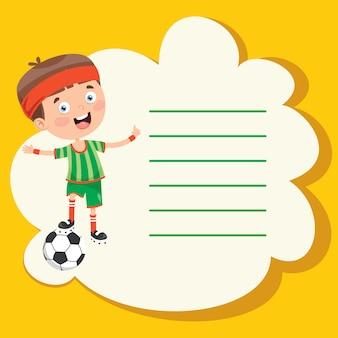 Szablon projektu z cute kreskówek uprawiania sportu