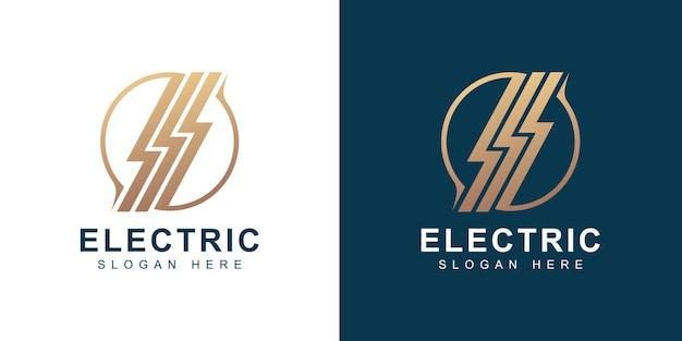 Szablon projektu złotego elektrycznego logo