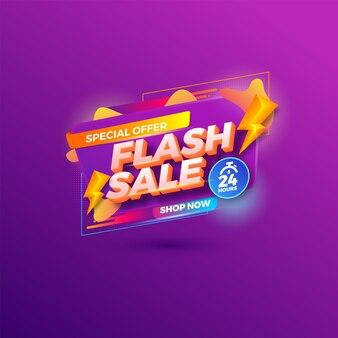 Szablon promocji banerów rabatowych sprzedaży flash.