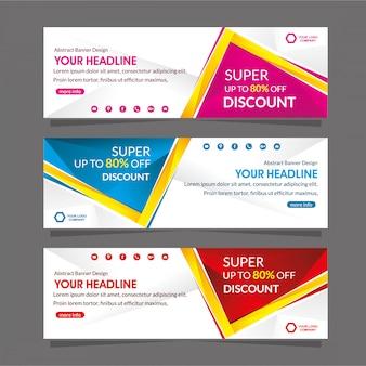 Szablon promocji banner internetowy specjalna oferta rabatowa sprzedaż