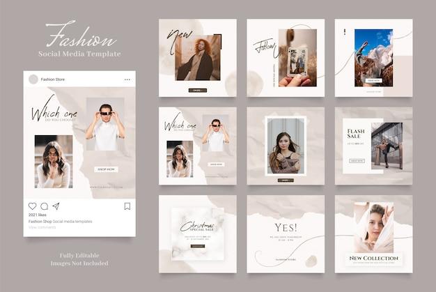 Szablon promocji sprzedaży mody w mediach społecznościowych.