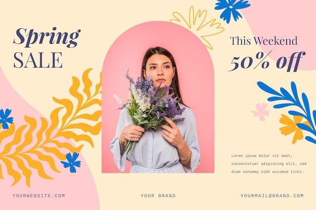Szablon promocyjny wiosennej sprzedaży