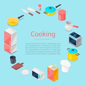Szablon przybory kuchenne