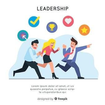 Szablon przywództwa w tle