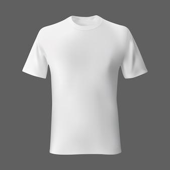 Szablon puste męskie koszulki biały