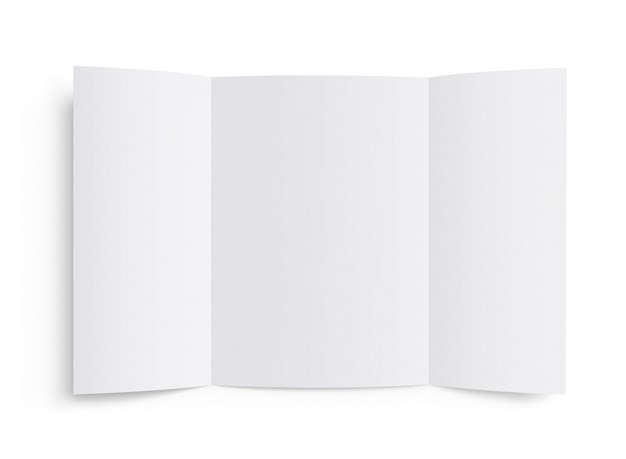 Szablon pustej broszury. broszura makieta wektor.