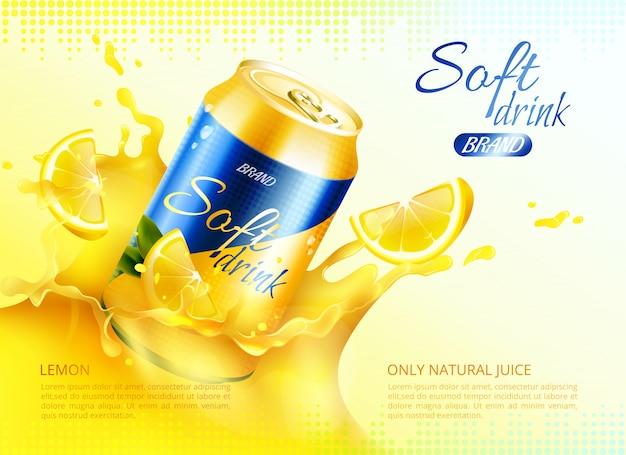 Szablon puszka metalowa napój bezalkoholowy