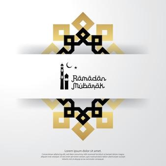Szablon ramadan mubarak na powitanie tle