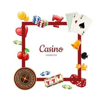 Szablon ramki elementów kasyna
