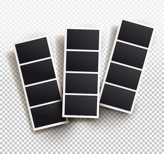 Szablon ramki kwadrat z cieniami, szablony.