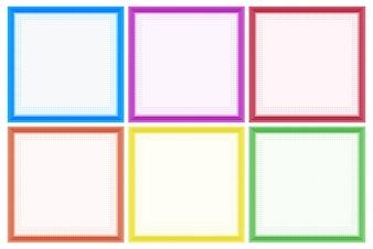 Szablon ramki z kolorowymi obramowaniami
