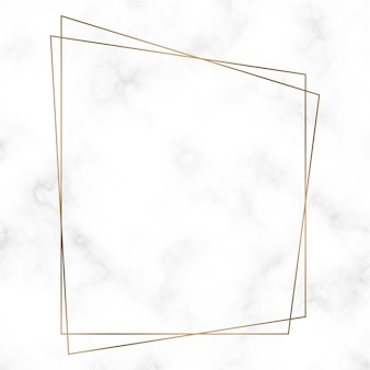 Szablon ramki złoty trapezoid