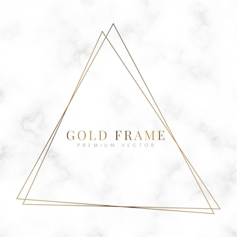 Szablon ramki złoty trójkąt
