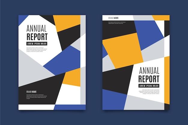 Szablon raportu rocznego nowoczesny design