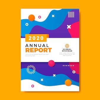 Szablon raportu rocznego w żywych kolorach