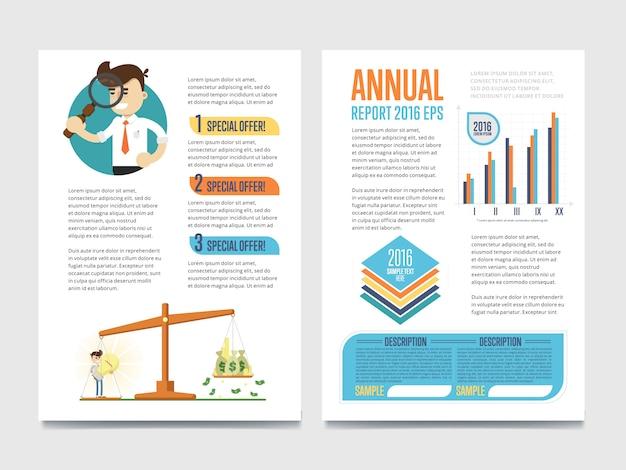 Szablon raportu rocznego z diagramem