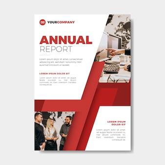 Szablon raportu rocznego ze stylem zdjęć