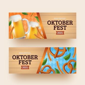 Szablon realistyczne banery oktoberfest
