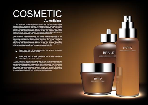 Szablon reklamy kosmetyczne wektor