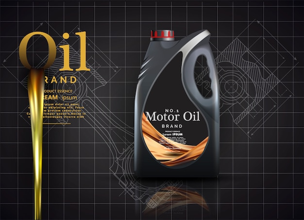 Szablon reklamy oleju silnikowego