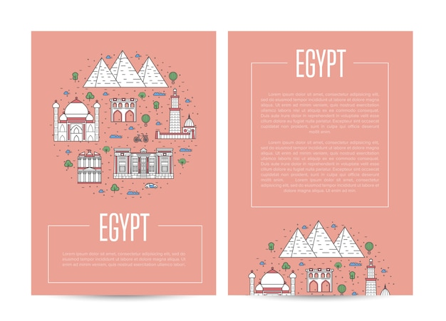 Szablon reklamy podróży kraju egipt