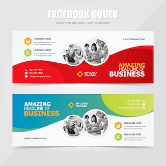 Szablon reklamy społecznościowej na facebooku