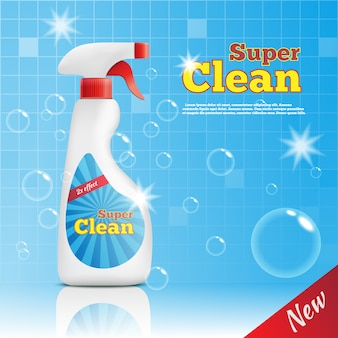 Szablon reklamy super cleaner