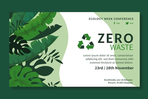 Szablon reklamy zero waste
