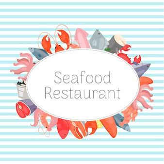 Szablon restauracji z owocami morza