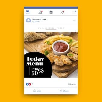 Szablon restauracji żywności na facebooku