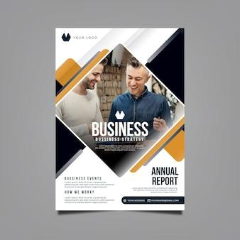 Szablon rocznego raportu biznesowego w pionie