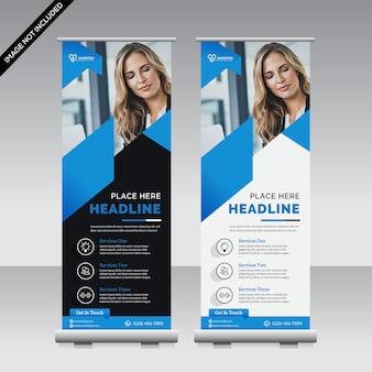 Szablon roll up banner biznes premium