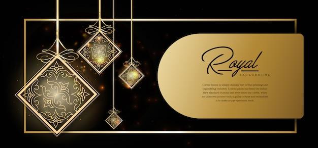 Szablon royal złote tło