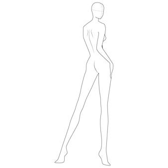 Szablon rysunku ciała mody