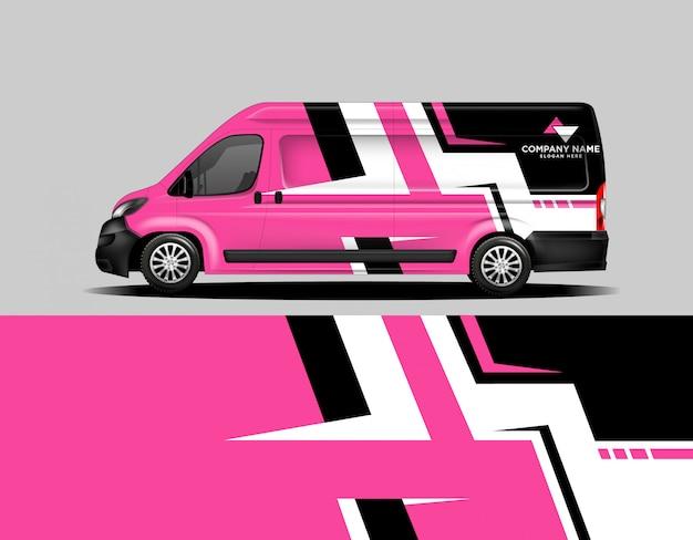 Szablon samochodu owinąć różowy floyd szablon