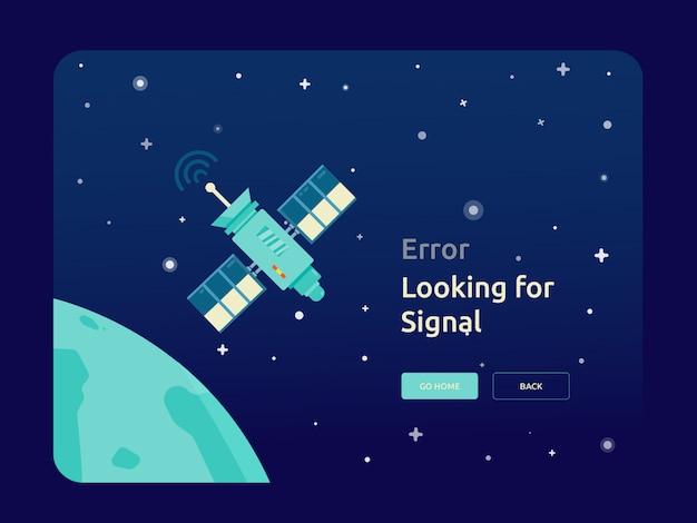 Szablon satelity w przestrzeni kosmicznej