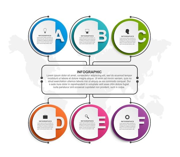 Szablon schematu organizacyjnego projektu infografiki