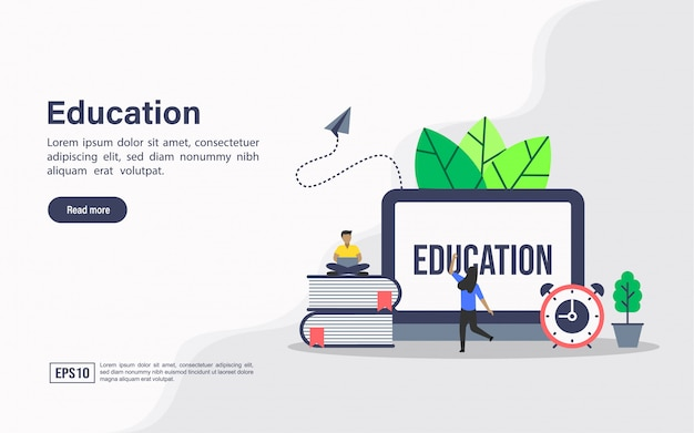 Szablon sieci edukacyjnej strony docelowej
