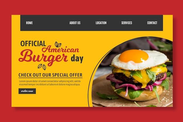 Szablon sieci web amerykańskiej żywności