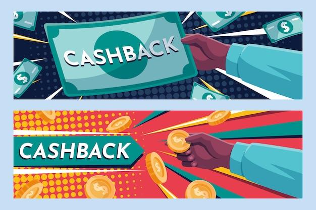 Szablon sieci web banner cashback